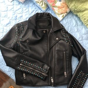 Super cute leather jacket.